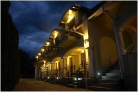 Building in the evening, Bajor Pension Aparthotel, Buk, Bukfurdo