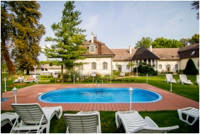 Outside pool, Batthyany Manor House, Zalacsany