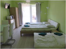 Édenkert Apartmanház, Gyula, berendezés