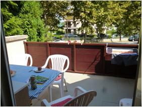 Nyitott terasz, Gasthaus Gibizer, Zamárdi