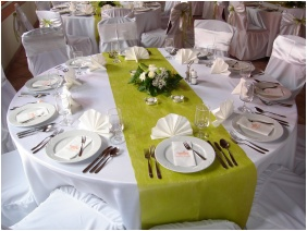 Weddingmeal setting, Gastland M0 Hotel, Szigetszentmiklos