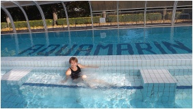 Hotel Aquamarin, Hévíz, Külső medence