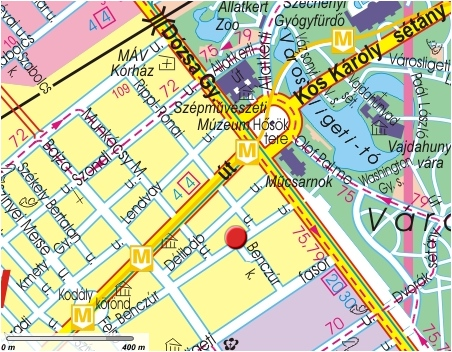 Hotel Benczur Location and map Online hotel reservation