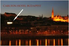 Pohled z exteriéru, Hotel Carlton, Budapest