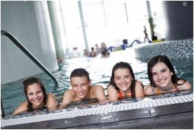 Inside pool, Hotel Castello, Siklos