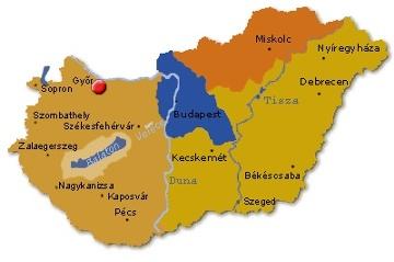 győr térkép Hotel Kalvaria   Győr   Térkép és elhelyezkedés