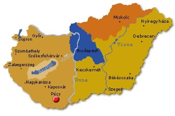 budapest pécs térkép Art & Fit Hotel Kikelet   Pécs   Térkép és elhelyezkedés budapest pécs térkép