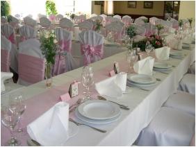 Hotel Kiss, Tata, Esküvői teríték