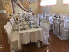 Hotel Korona, Gedeckt zur Hochzeitsessen