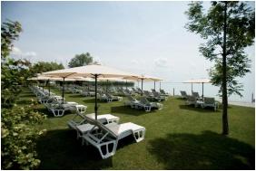Own beach, Hotel Marina Port, Balatonkenese
