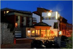 Hotel Millennium, Building in the evening - Pecs
