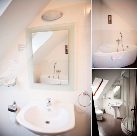 Bathroom, Hotel Vlla Natura, arabonc