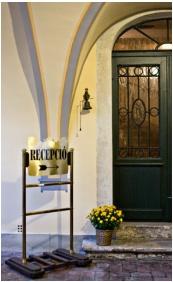 Reception area, Hotel Wollner, Sopron