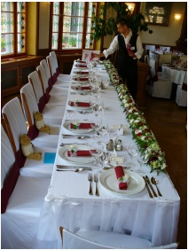 Hunguest Hotel Palota, Weddingmeal setting