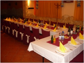 Major Pension & Restaurant, Weddingmeal setting - Hajduszoboszlo
