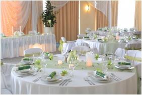 Novotel Szeged Hotel, Szeged, Esküvői teríték