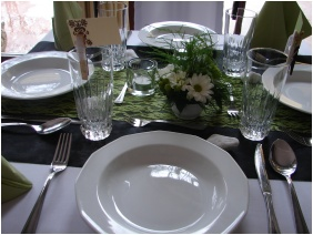 Festive place setting, Nyerges Hotel Thermal, Monor
