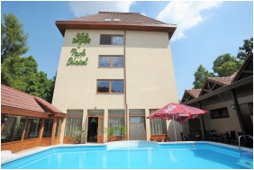 Outside pool, Park Hotel Gyula, Gyula