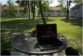Thermal Apartments & Camping Harkany, Open-air terrace