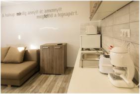 berendezés, Toszkána Apartmanház, Bogács