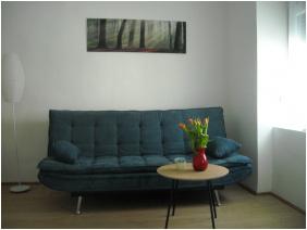 szobabelső, Várfal Apartman, Pécs