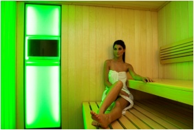 Infrared sauna, Vital Hotel Nautis, Gardony