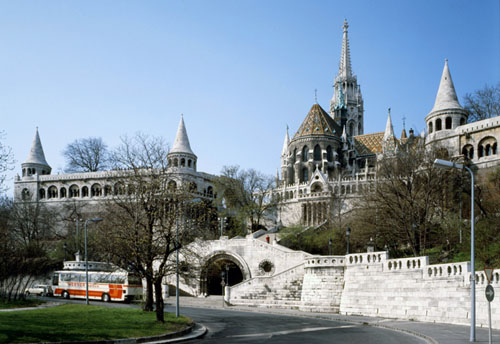 Budapest - Pictures of Buildings - Fisherman's Bastillon